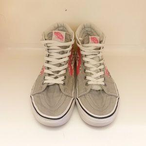 VANS Retro White/pink/grey Checkerboard High top